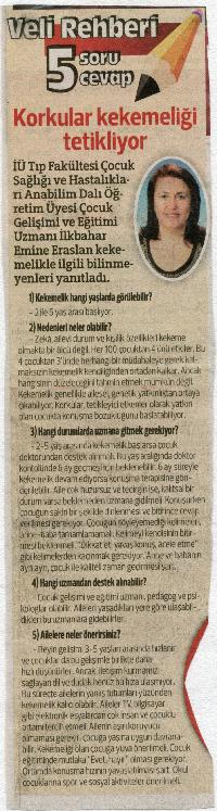 Hürriyet Gazetesi 24 Mart 2014 Sayfa 15